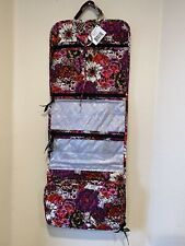Vera Bradley Rosewood Hanging Organizer Travel Cosmetic Case Folding