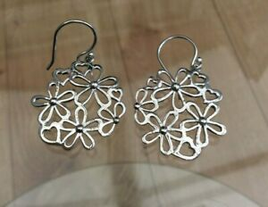 Silver Flower & Hearts Earrings