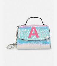 Justice Girl's Mini Initial Key Chain Purse New with Tags