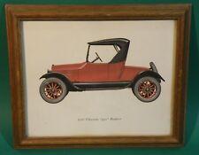 "Chevrolet 1921 ""490"" Roaster Vintage Automoble Print 1960s Wood Frame"
