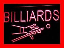 i309-r Billiards Pool Room Table Bar Pub Neon Light Sign