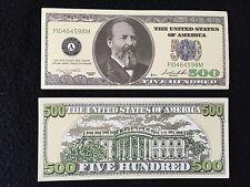 (25-pack) US 500 Dollar Garfield Novelty Bill Fun Play Money Commemorative Gift