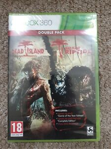 Dead Island Double Pack Xbox 360 Game rare brand new sealed game of year edition