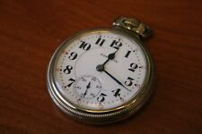 Vintage Hamilton 992 10k Gold Plated Pocket Watch 21 Jewels Usa Made Tested Runs