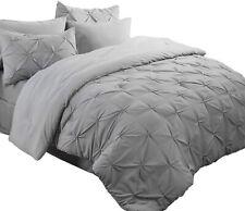 Bedsure Comforter Set Queen/Full Bed in A Bag Grey 8 Pieces - 1 Pinch Pleat Comf