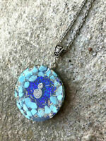 Orgone Shungite pendant, stones and crystals. Protection, positive wine, unisex.