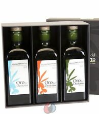 Pack 3 variedades 500 ml - Oro del Desierto Ecologico - Aceite de oliva virgen e
