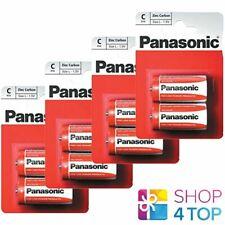 8 PANASONIC ZINC CARBON C LR14 BATTERIES BLISTER 1.5V BABY MN1400 AM2 E93 NEW