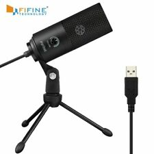 Fifine Metal USB Condenser Recording Microphone For Laptop  Windows Cardioid