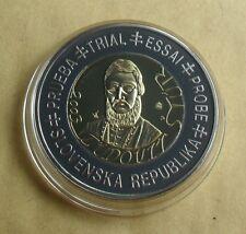 2003 SLOVAKIA  (SLOVENSKA REPUBLIKA)  2€ TRIAL ESSAI SPECIMEN COIN + C.O.A