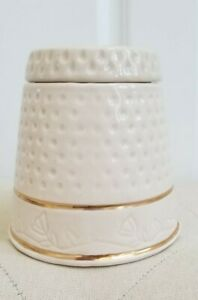 House of Webster Antique Ceramic Porcelain Thimble Canister/Jar