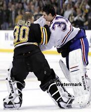 Boston Bruins Tim Thomas Fighting Montreal Canadiens Carey Price 8 X 10 Photo