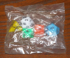 D&D Polyhedral Dice - mid 1970s in Original Shrinkwrap - DUNGEONS & DRAGONS