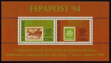 Surinam / Suriname 1994 FEPAPOST postkoets mail-coach stamp on stamp S/S MNH