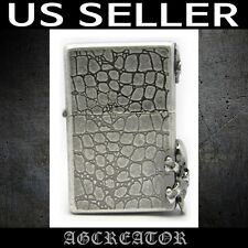 New Japan Korea zippo lighter ROCK CHIC SA silver antique engraved emb US SELLER