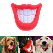 Puppy Dog Toys Big Red Rubber Lips for Pet Dog with Sound Squeaker Squeaky Toys