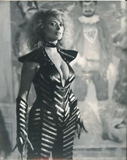 Sybil Danning original photo in busty costume with dog collar