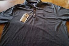 MEN'S RUGBY BRAND POLO SHIRT / GRAY / SHORT SLEEVE / SIZE XL