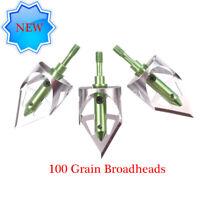 "Bowhunting CrossbowX Mechanical Broadhead, 5/6"" Cutting Diameter 100 Grain,3 Pcs"
