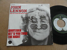 "DISQUE 45T DE JOHN LENNON  "" WHATEVER GET'S YOU THRU THE NIGHT """