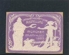 Vignette-Reklamemarke Landwirtschaftliche Ausstellung 1905 München   (C1)