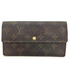 Authentic Louis Vuitton Monogram Portefeiulle Sarah Long Bifold Wallet /40783