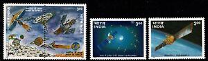 INDIA 2000 Space Program INSAT 3B Flag Spacecraft se-tenant set of 4 MUH