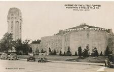 Royal Oak MI * Shrine of the Little Flower  Church  RPPC  1940s  Grogan