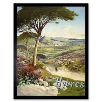Hugo Hyeres France Landscape Travel Advert Framed Wall Art Poster