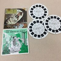 Vintage View-Master 3-Reel Set The Birth Of Jesus Complete Booklet A115