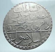 1757-1774AD TURKEY Sultan Mustafa III Ottoman Empire Silver 2 Zolota Coin i80872