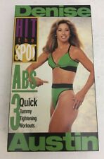 Denise Austin Hit the Spot ABS VHS VIDEO-TESTED-RARE VINTAGE-SHIPS N 24 HOURS