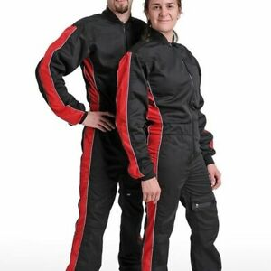 Pittz Freefly Evolution Skydiving Freeflying AAF Jumpsuit BLACK & RED S SMALL
