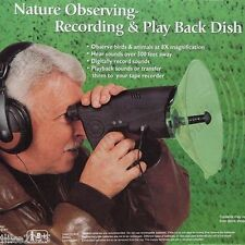 UpTo 300ft Long Range Parabolic Microphone Monocular Bionic Ear Nature Observing