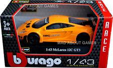 MCLAREN MP4-12C GT3 2013 1:43 Car NEW Model Diecast Models Cars Die Cast Orange