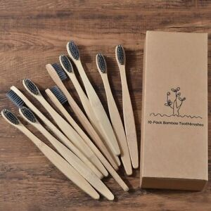 12 Pcs Natural Bamboo Toothbrush Soft Handle Eco Friendly Oral Care Soft Bristle