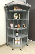 "Storage Corner Shelving cover, fits corner racks 28""D x 28""D x 72""H (Cover only)"