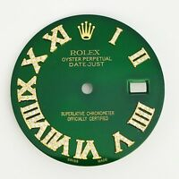 Diamond Roman Numeral Green Dial to Fit Datejust Mens 36mm Rolex Watch 1/2 CT.