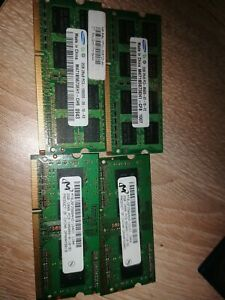 Pc3 Laptop Ram 4 X 2gb Rams, 8gb Total