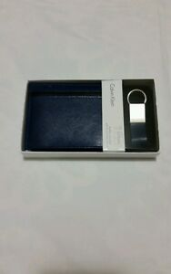 Calvin klein Men's Blue Wallet/ Fob Set