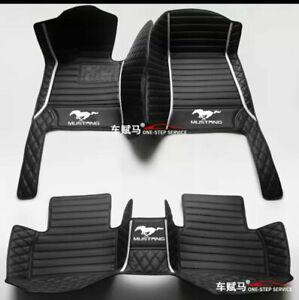 For 1999-2020 Ford-Mustang luxury custom waterproof floor mats