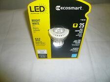 LOT OF (8) ECOSMART MR16 25 WATT EQUIVALENT LED BRIGHT WHITE FLOOD LIGHT BULBS