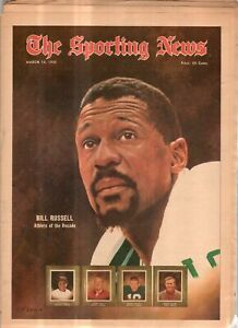 The Sporting News Newspaper March 14, 1970 Athlete of the Decade Bill Russell G