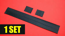 Carbon Fiber Bicycle Chainstay Protector + 2 Frame Patches - Matte / Dry Black