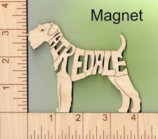 Airedale Terrier Dog laser cut and engraved wood Magnet Great Gift Idea