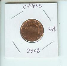 2008 CYPRUS 5€-CENTS  5-€-CENTS  5 Euro-CENTS  Coin  !!