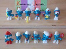 Erkennst du deinen Schlumpf D 1981  Komplettsatz alle Figuren+Zubehör