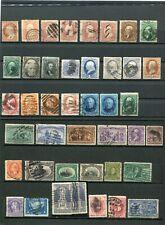 Lot de timbres ancens des Etats Unis d'Amérique