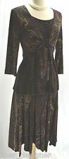 SOFTWEAR Mark Singer 2PC KNIT crop Jacket top skirt dress Slinky travel 10 M NEW