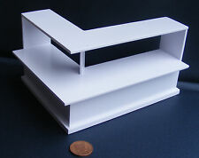 1:12 White Painted Wood Shop Display Counter Doll House Miniature Accessory HWR2